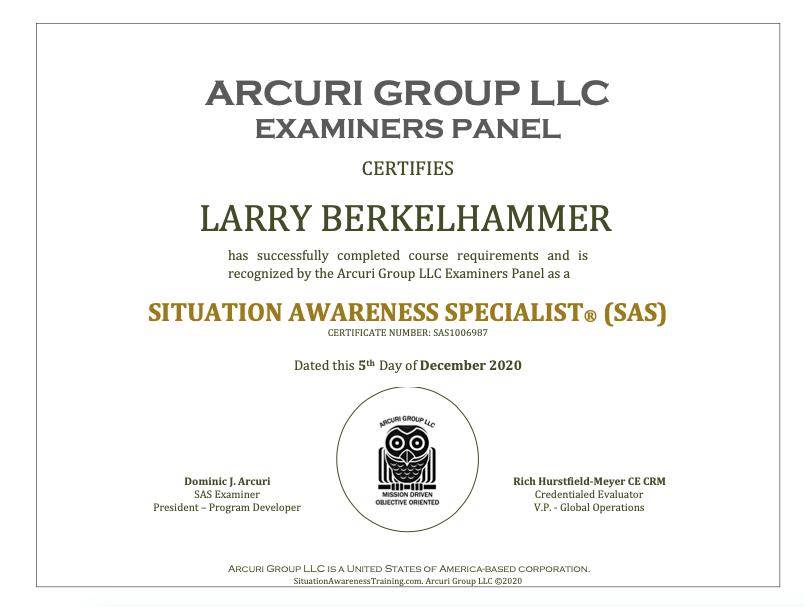situation awareness certification